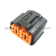8 pin black female waterproof electrical connector for 6195-0051